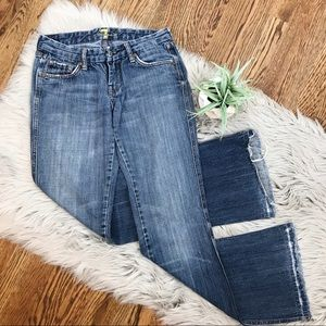 7 For All Mankind Pink A Pocket Flare Jeans